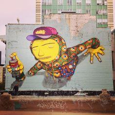 Os Gemeos #streetart #rexmonkey http://www.rexmonkey.com/street_artists/os-gemeons/