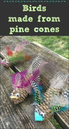 Birds made out of pine cones is the perfect kids craft for camping, hiking or any outdoor play Primitive Christmas, Kids Christmas, Primitive Snowmen, Primitive Crafts, Country Christmas, Christmas Christmas, Pinecone Crafts Kids, Pine Cone Crafts, Art For Kids