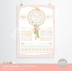 I love this one, too!!!  Printable Invitation | Aztec Dreams | Personalised Digital PDF