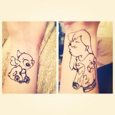 Share Lilo and Stitch tattoos with a BFF. | 25 Ways To Wear Your Favourite Books, Movies, And Shows In Henna