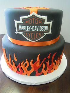 in flames fabulous cake art- chucks bday?