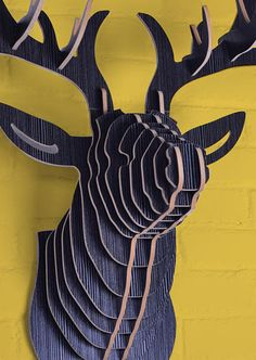 uber cool european inspired dyi wooded stag head wall art $129 (orig. price $179) subscribe at www.thiscounts.ca #thiscounts #discounts #shop #save #sale #home #decor #wallart #art #diy #stag #canada