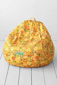 Girls Regular Daisy Print Bean Bag Cover Or Insert From Lands End