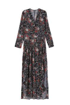 Robe hippie Color Block à imprimé fleurs et décolleté en V