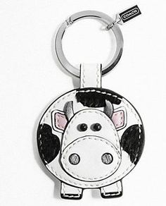 NWT Coach Multi Patent Charm KeyChain Key Fob with Flower Ladybug Butterfly 7184 Leather Bookmark, Leather Keychain, Leather Earrings, Leather Jewelry, Leather Craft, Cool Keychains, Ring Crafts, Leather Projects, Small Leather Goods