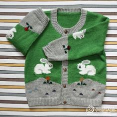 All About Knitting Baby Knitting Patterns, Baby Sweater Knitting Pattern, Knitted Baby Cardigan, Knitting For Kids, Crochet For Kids, Baby Patterns, Cardigan Bebe, Baby Girl Sweaters, Free Pattern