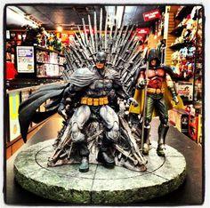 Huge Batman and Robin statue