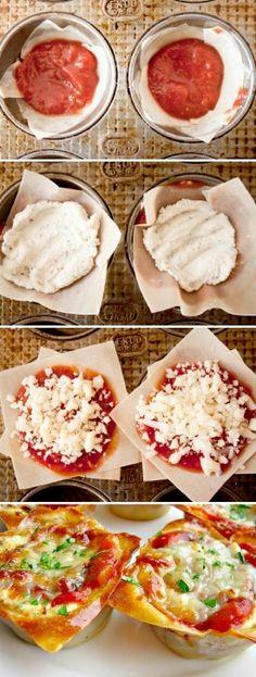 Lasagna muffin minis
