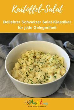Kartoffelsalat ist eine sehr beliebte und vielseitige Beilage zu verschiedenen Gerichten. Am häufigsten wird er zu Wurst und Fleisch serviert. Dieser Schweizer Salat Klassiker aus Kartoffeln ist vor allem bei Familien beliebt. Kartoffelsalat ist einfach und schnell machbar. #Kartoffelsalat #LaCucinaAngelone #DieAngelones Potato Salad, Potatoes, Foodblogger, Ethnic Recipes, German, Happy, Meat, Side Dish Recipes, Lettuce Recipes
