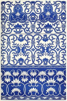 Borders from blue-and-white china bottles.  From Examples of Chinese ornament, by Owen Jones, London, 1867.  (Source: archive.org)