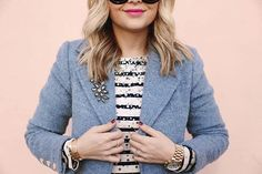 Who else isn't ready to lay off the sequins? Celebrate New Years Day with just the right amount of sparkle in @krystin_lee's blazer and stripes combo | Shop her look with www.LIKEtoKNOW.it | www.liketk.it/24afy #liketkit