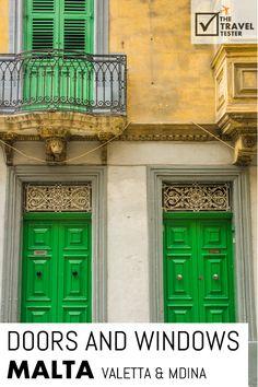 25x Beautiful Windows and Doors on Malta: Valetta & Mdina