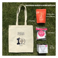 x 6 Month Beginner Barista Subscription - Badger & Dodo Just Love, Take That, Coffee Canister, Badger, Barista, Irish, Branding Design, Reusable Tote Bags, Gift Ideas