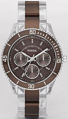 Fossil Women's ES2801 Silver Stainless-Steel Quartz Watch with Brown Dial, Disclosure: Affiliate Link
