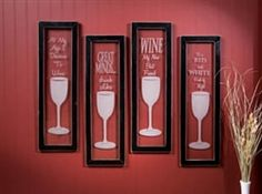 Etched in Wine Wall Plaques Set Gifts For Wine Drinkers, Different Signs, Wine Signs, Wine Wall, Housewarming Party, Black Wood, Wall Plaques, Home Decor Items, Candle Sconces