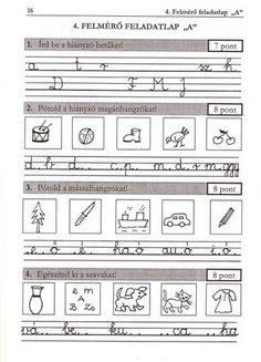 ÍRÁS, HELYESÍRÁS FELMÉRŐ FELADATLAPOK 1. osztály - tanitoikincseim.lapunk.hu Dysgraphia, Thing 1, Grammar, Kids Learning, Worksheets, Sheet Music, Literature, Homeschool, Teaching