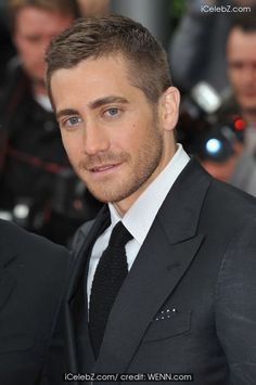Jake Gyllenhaal- and he always looks better with short hair and a bit of stubble :)