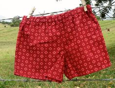 Shorts pants boys red cotton shwe shwe good idea for your husbands birthday :-) Waffle Cookies, Fabric Names, Husband Birthday, African Fabric, Surface Design, Beautiful Outfits, Boy Outfits, South Africa, Charity