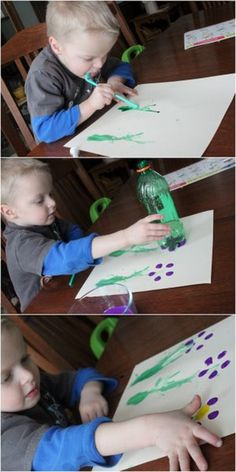 Spring Flower Art Project for Kids