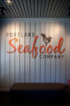 Portland Seafood Co., Wall Art, Custom Art, Restaurant Design, Hospitality Design, Graphic Design, Interior Design by Bar Napkin Productions #BarNapkinProductions