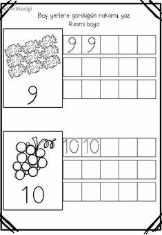 Kindergarten Math Worksheets, Preschool Learning Activities, Preschool Printables, Writing Activities, Teaching Math, Kids Learning, Montessori Math, Writing Numbers, Simple Math