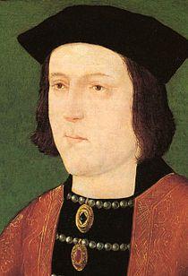 Edvard IV av England, en av huset Yorks söner som kämpat sig till kronan. Farfar till Henrik VIII. Är i boken Wolf Hall död sedan länge.
