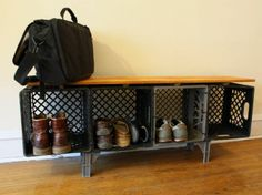 Hate this, but, reminder for me to spray paint the milk crates I have and use as shelving.  Black?