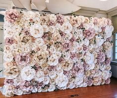 New York Paper Flowers Pipe And Drape Backdrop, Flower Wall Backdrop, Backdrop Design, Paper Flower Wall, Tissue Flowers, Prom Flowers, Fabric Flowers, Paper Flowers, Flower Wall Wedding
