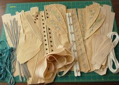 Drafting and making all types of foundations, corsets, bras, etc