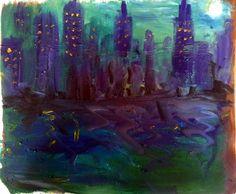 Skyscraper by Rassen Haddad 2013 Drawing Skills, Drawings, Artwork, Painting, Work Of Art, Auguste Rodin Artwork, Painting Art, Sketches, Artworks