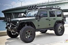 Military Green Jeep Wrangler by CEC Wheels 04