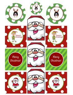 gratuit à imprimer étiquettes noel pour paquet cadeau