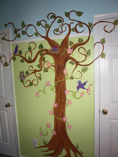 Mural we painted for the girls room