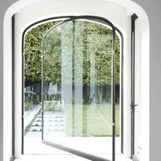 Arch top pivoting Glass Door