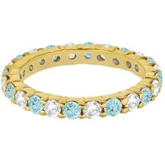 Buy alternating December birthstone eternity ring with blue topaz gemstones and diamonds set in a Yellow Gold prong setting. Shop stackable diamond and topaz ring as wedding band for ladies. Aquamarine Stone, Topaz Gemstone, Opal, Best Engagement Rings, Blue Topaz Ring, Birthstone Jewelry, Semi Precious Gemstones, Fashion Rings, Turquoise Bracelet