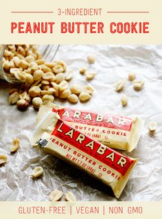 No-bake Peanut Butter Cookies made of just 3 simple ingredients — dates, peanuts, and sea salt. Enjoy a cookie anytime of day with this guilt-free version made simply from real food. Bone App The Teeth, 3 Ingredient Cookies, Fruit And Nut Bars, Snack Brands, Lara Bars, Peanut Butter Cookies, Diet And Nutrition, 3 Ingredients, Sea Salt