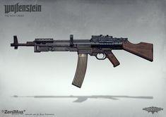 ArtStation - Concept art from Wolfenstein: The New Order - AR 46, axel torvenius