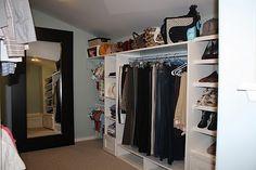 DIY attic walk in closet