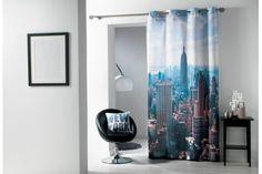 Rideau à oeillets sur le thème de New York Stores, Decoration, New York, Curtains, Prints, Home Decor, Linens, Fishing Line, Decor