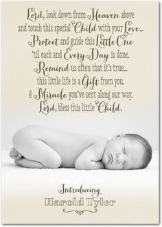 Like this blessing for new babies!!