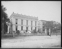 Rare photograph of the James Robb mansion, once the largest in the entire south.  It occupied an entire city block in Uptown New Orleans.