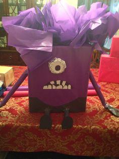 Evil minion valentines card box for Scott!