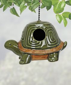 Look what I found on #zulily! Turtle Birdhouse by Coyne's & Company #zulilyfinds