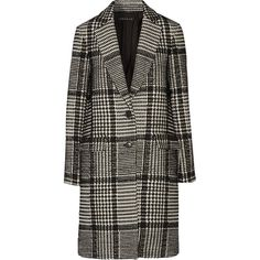 Theory Sekary wool-blend coat ($390) ❤ liked on Polyvore featuring outerwear, coats, black, black coat, wool blend coat, theory coat and faux coat
