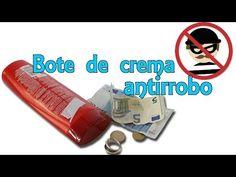 Bote antirrobo para la playa - Bote de crema secreto (Experimentos Caseros) - YouTube