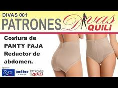 001 DIVAS PATRONES. FAJA CONTROL DE ABDOMEN - YouTube Embroidery Patterns, Sewing Patterns, Bra Pattern, Lingerie, Bikinis, Swimwear, Underwear, Youtube, Women