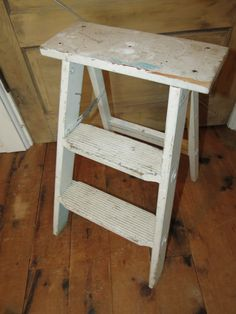 Vintage Wooden Step Stool Ladder. by thevrose on Etsy