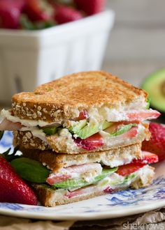 10. Strawberry Avocado Goat Cheese Panini #healthy #recipes http://greatist.com/health/healthy-single-serving-meals