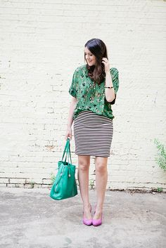 Pattern mixing   unexpected shoes http://findanswerhere.com/womensfashion