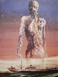 "talesfromweirdland: ""Cover art by Dutch illustrator Karel Thole for sci-fi novel, Earthworks "" Arte Sci Fi, Tristan Tzara, Art And Illustration, Arte Horror, Horror Art, Glam Rock, Eric Lacombe, Sci Fi Kunst, Science Fiction Kunst"